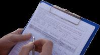 Log visit data using app or paper form