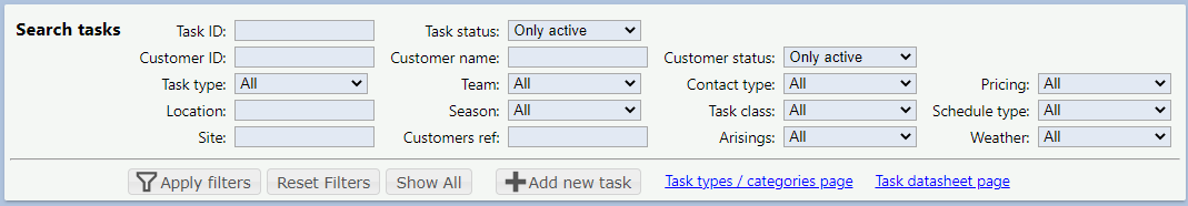 The many task search option