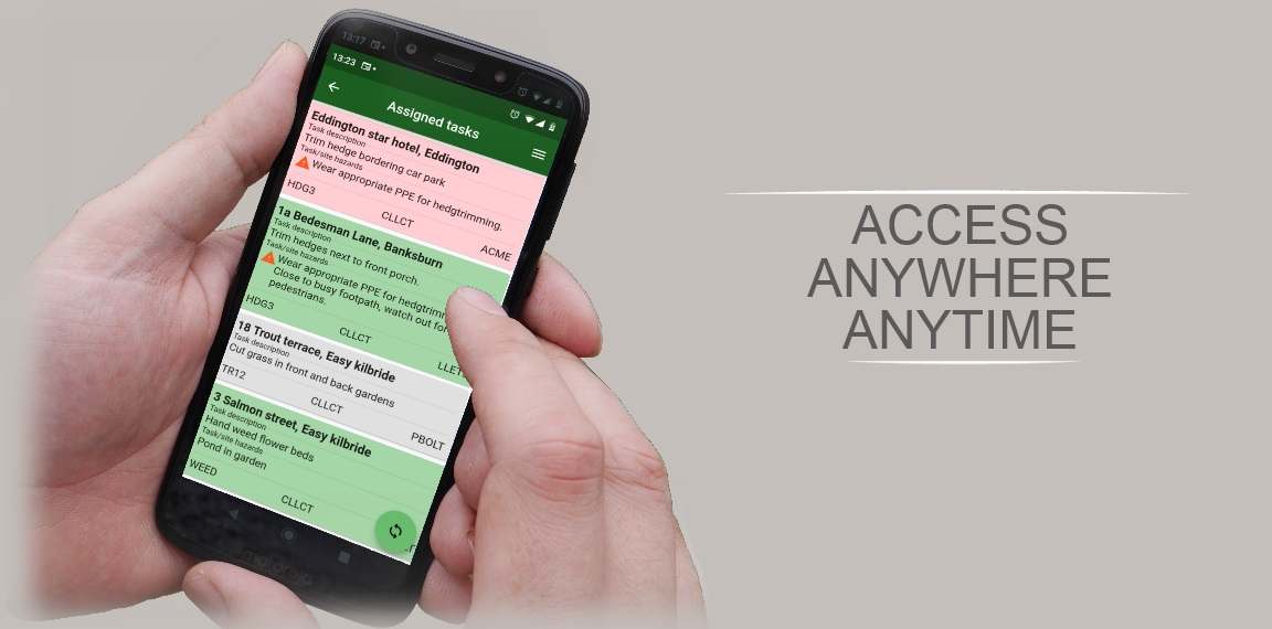Groundleader.  Access it anywhere, anytime, using the app for Android and iOS.